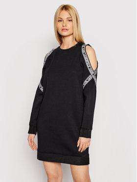 KARL LAGERFELD KARL LAGERFELD Rochie tricotată Cold Shoulder 211W1362 Negru Regular Fit