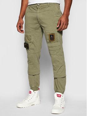 Aeronautica Militare Aeronautica Militare Pantaloni di tessuto 211PF743J217 Verde Regular Fit