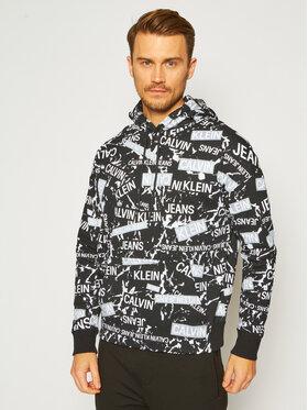 Calvin Klein Jeans Calvin Klein Jeans Суитшърт Allover Logo Print J30J316505 Черен Regular Fit