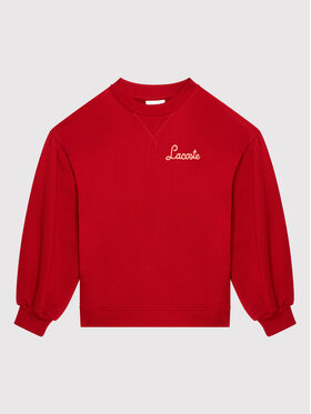 Lacoste Lacoste Bluza SJ6840 Czerwony Regular Fit