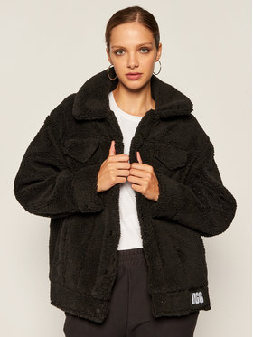 Ugg Ugg Cappotto in shearling Frankie Sherpa Trucker 1113951 Nero Regular Fit