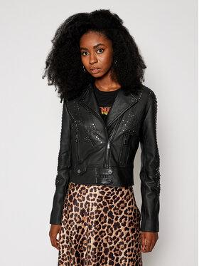 Pinko Pinko Kožená bunda Christopher Nail 20202 BLK01 1G15HS Y672 Čierna Regular Fit