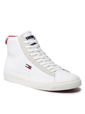 Tommy Jeans Tommy Jeans Sneakersy Leather Mid Cut Vulc EN0EN01503 Biały