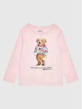 Polo Ralph Lauren Polo Ralph Lauren Блуза Bear 311854212001 Розов Regular Fit