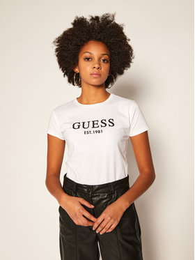 Guess Guess T-Shirt O0BI02 J1311 Bílá Slim Fit