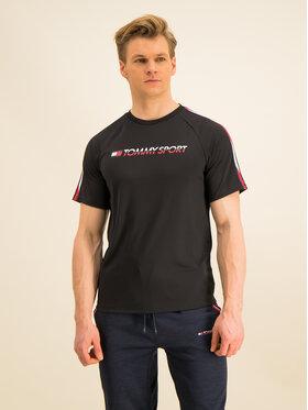 Tommy Sport Tommy Sport Marškinėliai Workout S20S200321 Juoda Regular Fit