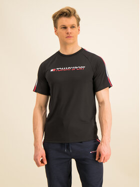 Tommy Sport Tommy Sport T-shirt Workout S20S200321 Crna Regular Fit