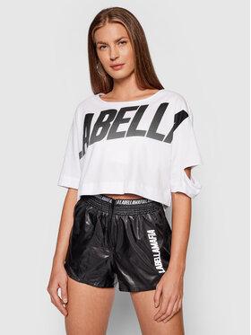 LaBellaMafia LaBellaMafia T-shirt 21776 Bijela Cropped Fit