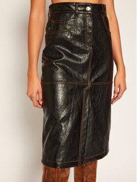MSGM MSGM Džínová sukně 2941MDD22 207670 Černá Regular Fit
