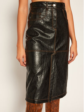 MSGM MSGM Džínsová sukňa 2941MDD22 207670 Čierna Regular Fit