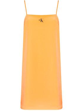 Calvin Klein Jeans Calvin Klein Jeans Každodenní šaty J20J215669 Oranžová Regular Fit