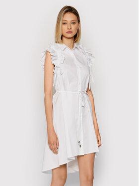Rinascimento Rinascimento Košilové šaty CFC0017910002 Bílá Regular Fit