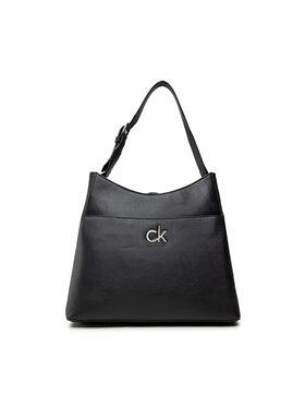 Calvin Klein Calvin Klein Дамска чанта Re-Lock Hobo Md K60K608412 Черен
