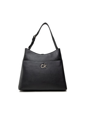 Calvin Klein Calvin Klein Kabelka Re-Lock Hobo Md K60K608412 Černá
