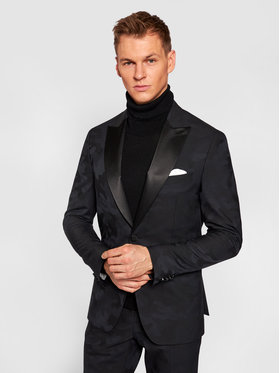 Tommy Hilfiger Tailored Tommy Hilfiger Tailored Sacou Dsn Tux Peak Lapel TT0TT08472 Bleumarin Slim Fit