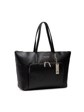 Calvin Klein Calvin Klein Дамска чанта Shopper Lg Saffiano K60K608554 Черен