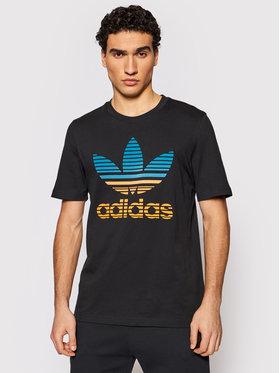 adidas adidas T-shirt Trefoil Ombré GP0166 Crna Regular Fit