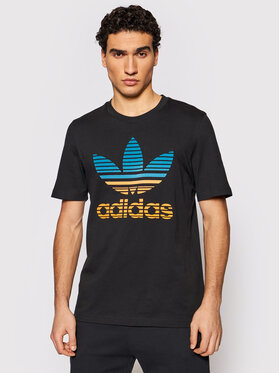 adidas adidas T-Shirt Trefoil Ombré GP0166 Czarny Regular Fit