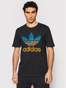 adidas adidas Тишърт Trefoil Ombré GP0166 Черен Regular Fit