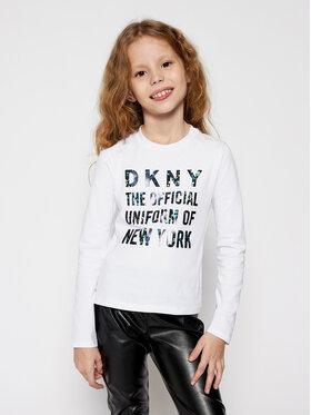 DKNY DKNY Bluzka D35Q81 S Biały Regular Fit