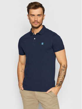 Selected Homme Selected Homme Polo Embroidery 16049517 Granatowy Regular Fit