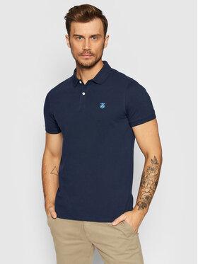 Selected Homme Selected Homme Тениска с яка и копчета Embroidery 16049517 Тъмносин Regular Fit