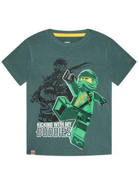 LEGO Wear LEGO Wear Тишърт 12010021 Зелен Regular Fit