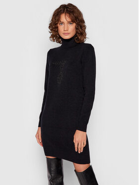 Trussardi Trussardi Džemper haljina 56D00549 Crna Regular Fit
