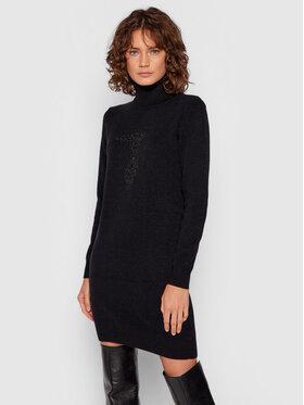 Trussardi Trussardi Úpletové šaty 56D00549 Černá Regular Fit