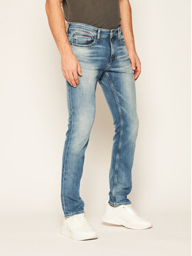 Tommy Jeans Tommy Jeans Jeansy Slim Fit Scanton DM0DM09766 Granatowy Slim Fit