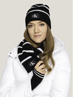 Calvin Klein Jeans Calvin Klein Jeans Kepurės ir šaliko komplektas J Knit Ck Mono Scarf+Beanie K60K605997 Juoda