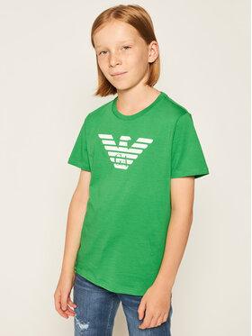 Emporio Armani Emporio Armani Marškinėliai 8N4T99 1JNQZ 0581 Žalia Regular Fit