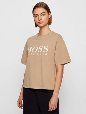 Boss Boss T-shirt C_Evina_Active 50457388 Bež Relaxed Fit