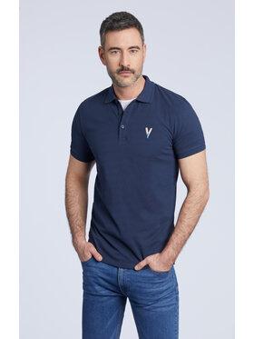 Vistula Vistula Тениска с яка и копчета Frigoles XA1195 Тъмносин Regular Fit