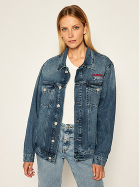 Tommy Jeans Tommy Jeans Geacă de blugi Trucker DW0DW08419 Bleumarin Oversize