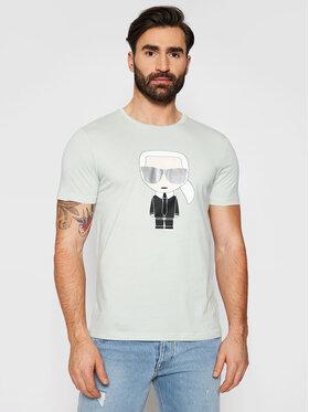 KARL LAGERFELD KARL LAGERFELD T-shirt Crewneck 755061 511251 Zelena Regular Fit