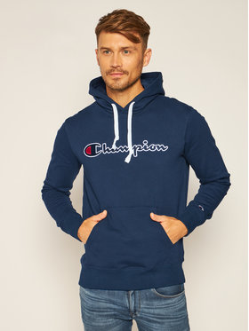 Champion Champion Bluza Hooded 214718 Granatowy Custom Fit