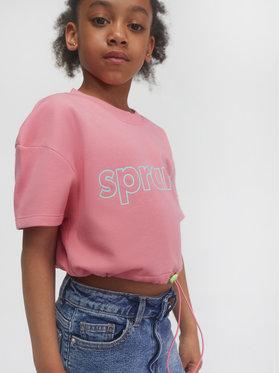 Sprandi Sprandi Majica dugih rukava SS21-TSG001 Ružičasta Relaxed Fit