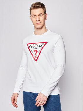 Guess Guess Bluză Audley M02Q37 K6ZS0 Alb Slim Fit