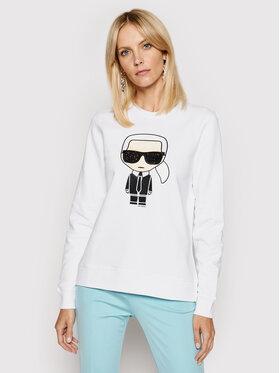 KARL LAGERFELD KARL LAGERFELD Sweatshirt Ikonik 210W1820 Weiß Regular Fit
