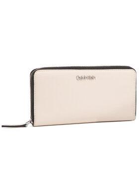 Calvin Klein Calvin Klein Velká dámská peněženka Ck Must Ziparound Lg K60K606698 Béžová