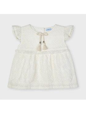 Mayoral Mayoral Φόρεμα καθημερινό 3191 Λευκό Regular Fit