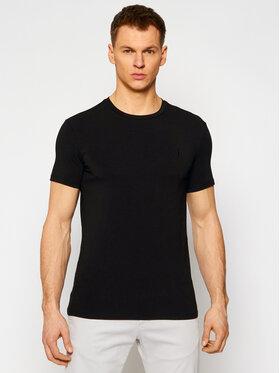 Trussardi Trussardi T-Shirt Stretch 52T00499 Czarny Slim Fit