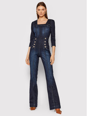 Guess Guess Jumpsuit W1BD20 D4HG2 Blu scuro Slim Fit