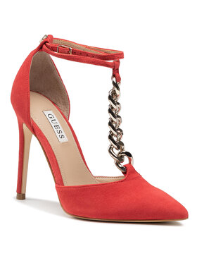 Guess Guess Pantofi cu toc subțire Niomy FL5NIO SUE08 Roșu