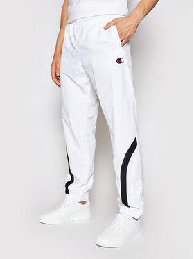 Champion Champion Pantaloni trening Colour Block 214264 Alb Custom Fit