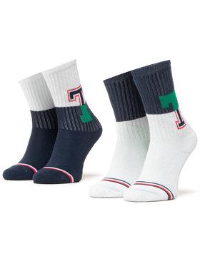 Tommy Hilfiger Tommy Hilfiger Sada 2 párů dětských vysokých ponožek 100000807 Tmavomodrá
