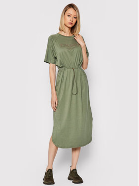 DKNY DKNY Ежедневна рокля P1FTCEGQ Зелен Regular Fit