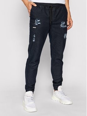 Diamante Wear Diamante Wear Jogger kelnės UNISEX 5501 Tamsiai mėlyna Regular Fit