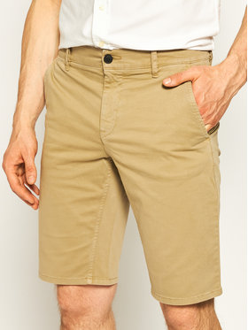 Boss Boss Pantalon scurți din material Schino 50403772 Bej Slim Fit